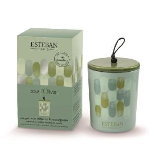 Bougie décorative parfumée sous l'olivier rechargeable 13 x 8 cm 535518