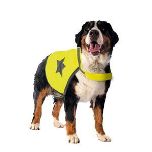Gilet de sécurité jaune fluo pour chien 64 cm 535864