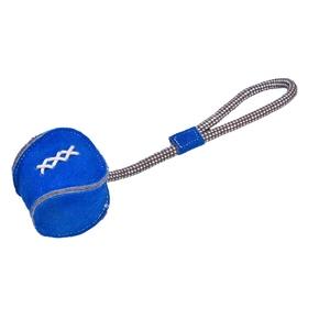 Jouet Récré bleu pour chien en cuir et corde 33x8 cm 535865