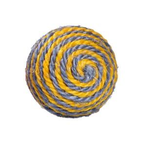 Balle Enjoy en sisal jaune Ø 7 cm 535890