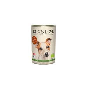 Boîte bio au bœuf pour chien, 400 g 536001