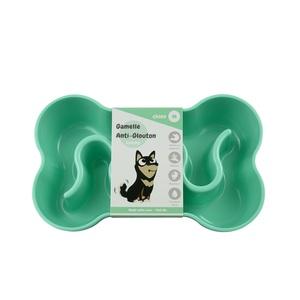 Gamelle pour chien anti-glouton verte taille M 400 ml 536041