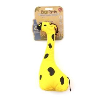 Jouet couineur pour chien peluche Girafe jaune 14x32 cm 536046