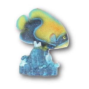 Poisson tropical bleu en résine petit modèle 5 x 7 cm 536175