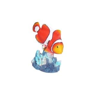 Poisson-clown multicolore en résine grand modèle 7 x 9 cm 536177