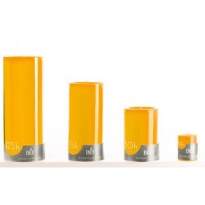 Bougie votive jaune pollen Ø3,8x4,8 cm 536341