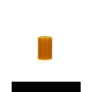 Bougie cylindrique jaune pollen petit modèle Ø7x10 cm 536344