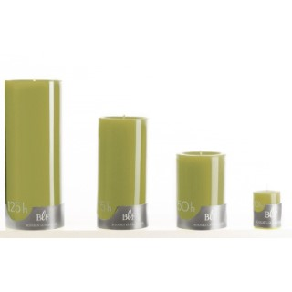 Bougie cylindrique vert olive petit modèle Ø7x10 cm 536345