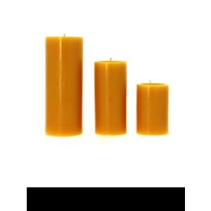 Bougie cylindrique jaune pollen moyen modèle Ø7x15 cm 536347