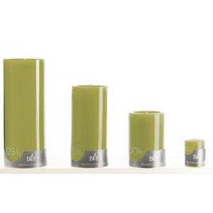 Bougie cylindrique vert olive moyen modèle Ø7x15 cm 536348