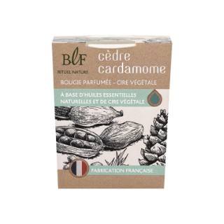Bougie Rituel Nature cèdre cardamome blanche, 180 g 536385