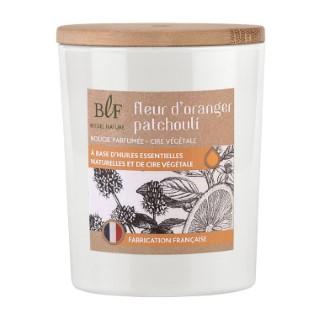 Bougie Rituel Nature fleur d'oranger patchouli avec bouchon bois, 230 g 536387