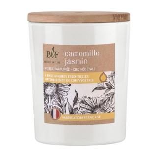 Bougie Rituel Nature camomille jasmin avec bouchon bois, 230 g 536389