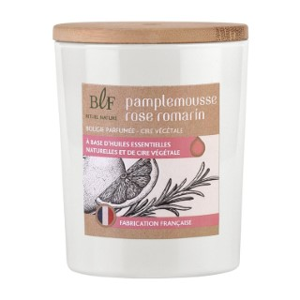 Bougie Rituel Nature pamplemousse romarin avec bouchon bois, 230 g 536390