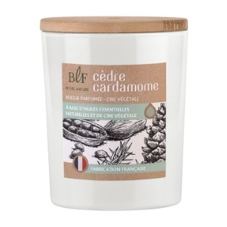 Bougie Rituel Nature cèdre cardamome avec bouchon bois, 230 g 536393