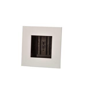 Cadre végétal vide blanc taille S 31 x 31 cm 536494