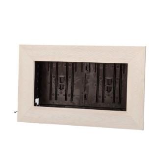 Cadre végétal vide en vieux bois blanchi taille M 37 x 58 cm 536507