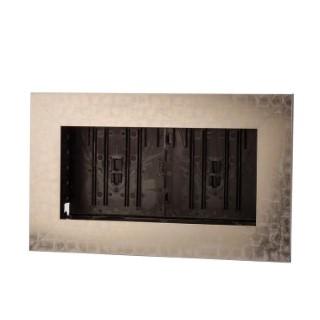 Cadre végétal vide gris en métal marbré taille M 37 x 58 cm 536511