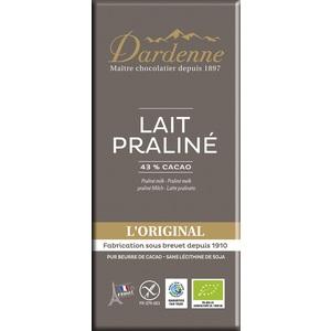 Tablette chocolat lait crème de noisette sans gluten 100g 53897
