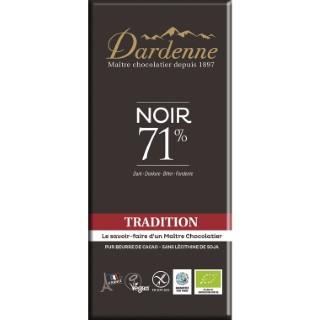 Tablette chocolat noir tradition 71% cacao sans gluten 100g 53902
