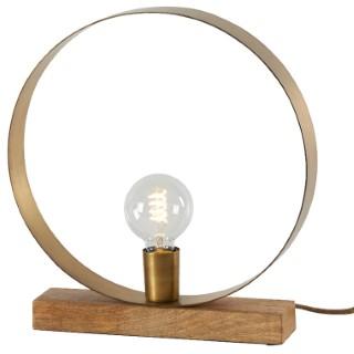 Lampe ruban ronde en bois Ø 33 x H 35 cm 542536