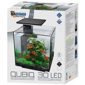 Aquarium Qubiq 30 Led Noir 32x32x42,5 cm 545002