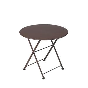 Table basse en acier couleur Rouille 55099
