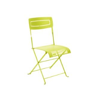 Chaise pliante Slim d'extérieur couleur verveine 55105