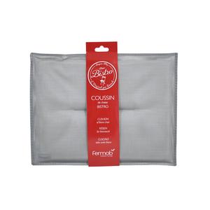 Coussin bistro gris métallisé 55115