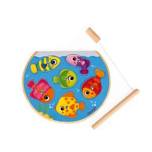 Puzzle en bois Speedy fishavec canne à pêche – 18 mois à 3 ans 552163
