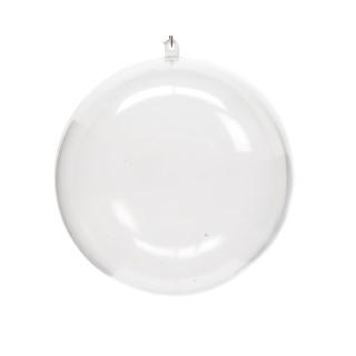 Boule de Noël plastique transparent à remplir D 12cm 55412