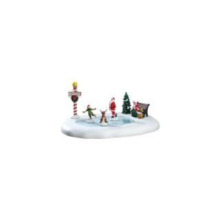 Figurine Les Patineurs du Pôle Nord  35,6x5,1x27,9 cm Multicolore 554510