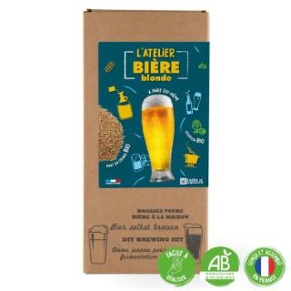 """Coffret DIY """"L'atelier bière blonde"""" pour faire sa propre bière bio (4L) 555199"""