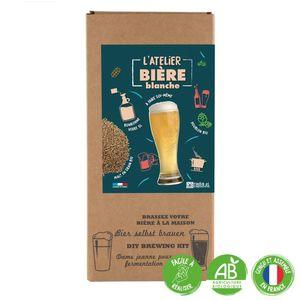 """Coffret DIY """"L'atelier bière blanche"""" pour faire sa propre bière bio (4L) 555200"""