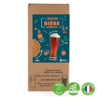 """Coffret DIY """"L'atelier bière ambrée"""" pour faire sa propre bière bio (4L) 555201"""