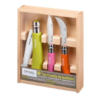 Coffret de 3 outils du jardinier Opinel 55731
