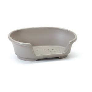 Corbeille en plastique Cosy Air gris - 90x60x26 cm 557351