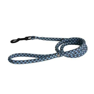 Laisse chien ronde bicolore 13mm / 120cm bleu 558364