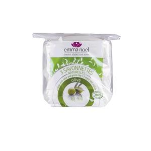 Savonnettes à l'huile d'olive bio en sachets de 3 x 150 g 559987