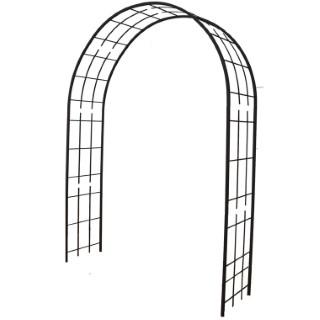 Arche double de jardin avec treillis en fer vieilli 560280
