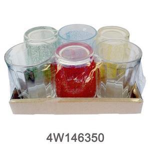 Pack 6 verres assortis 560691