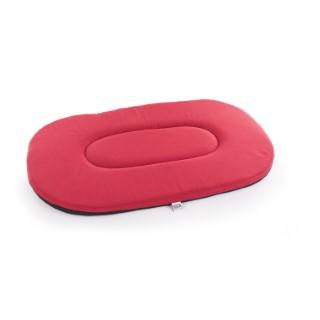 Coussin ovale plat rouge - 1 mètre 572587