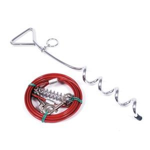 Kit piquet d'attache chien + câble 3 m 573174