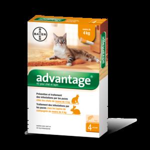 Advantage chat 40 4x0,4 ml 574375