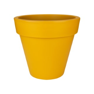 Pot pure round Elho jaune grand modèle Ø 49 x H 44 cm 577660