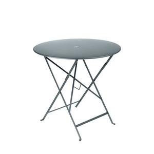 Table de jardin ronde pliante Bistro FERMOB gris orage 77 x h 74 cm 583404