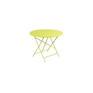 Table de jardin ronde pliante Bistro FERMOB muscade 96 x h 74 cm 583405