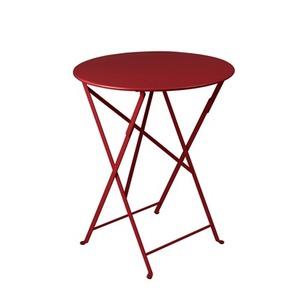 Table de jardin ronde pliante Bistro FERMOB piment 60 x h 74 cm 583424