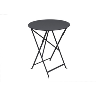 Table de jardin ronde pliante Bistro FERMOB carbone 60 x h 74 cm 583426