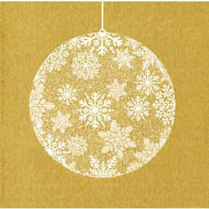 Serviettes x20 intissé boule de Noël 40x40 cm 58512